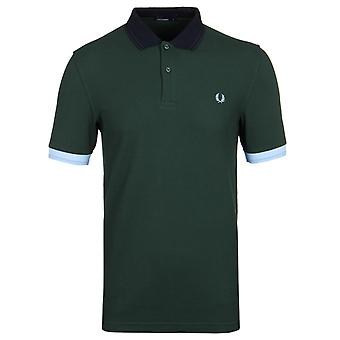 Fred Perry Ivy Green Pique Panel korte mouw poloshirt