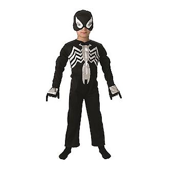 Black Spiderman die schwarze Spinne Original Deluxe Kinderkostüm