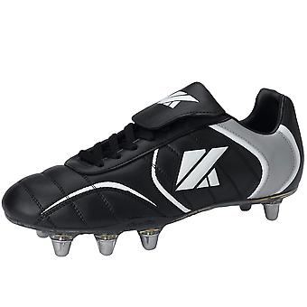 KOOGA FTX Low Cut weichen Toe Rugby Boots Classic [Schwarz]