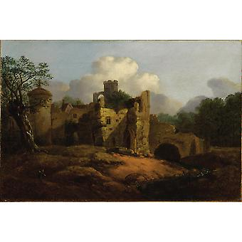Thomas Gainsborough - Old Castle Poster Print Giclee