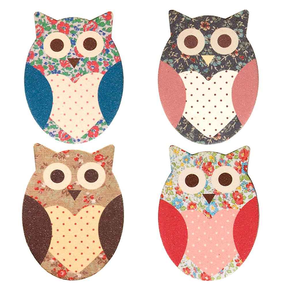 Sass & Belle Owl Floral Nail File Assorted