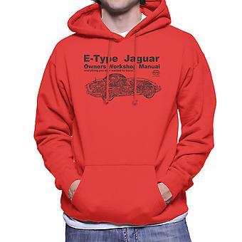 Haynes Owners Workshop Manual Jaguar E Type zwarte mannen Hooded Sweatshirt