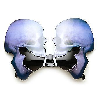 Kraniet skelet hoved Glitter Halloween kostume fest nyhed solbriller