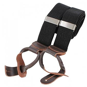 Knightsbridge Neckwear Luxury Braces - Black