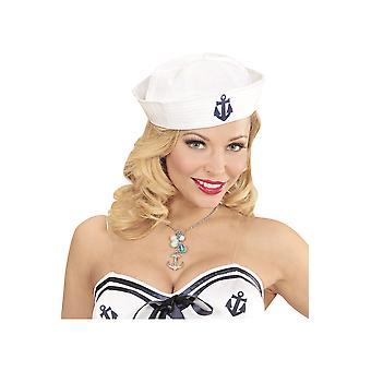 Jewelry and crowns  Anchor necklace with Rhinestone
