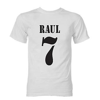 Raul Real Madrid Retro Style T-shirt (wit)