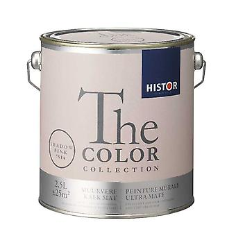 Histor The Color Collection muurverf kalkmat shadow pink 7514 2,5 l