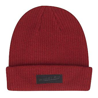 Mitchell & Ness winter Hat Beanie - SAILOR PATCH rubin
