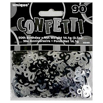 Unique Party Black 90th Birthday Confetti