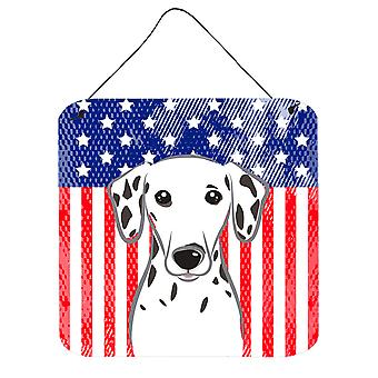 American Flag and Dalmatian Wall or Door Hanging Prints