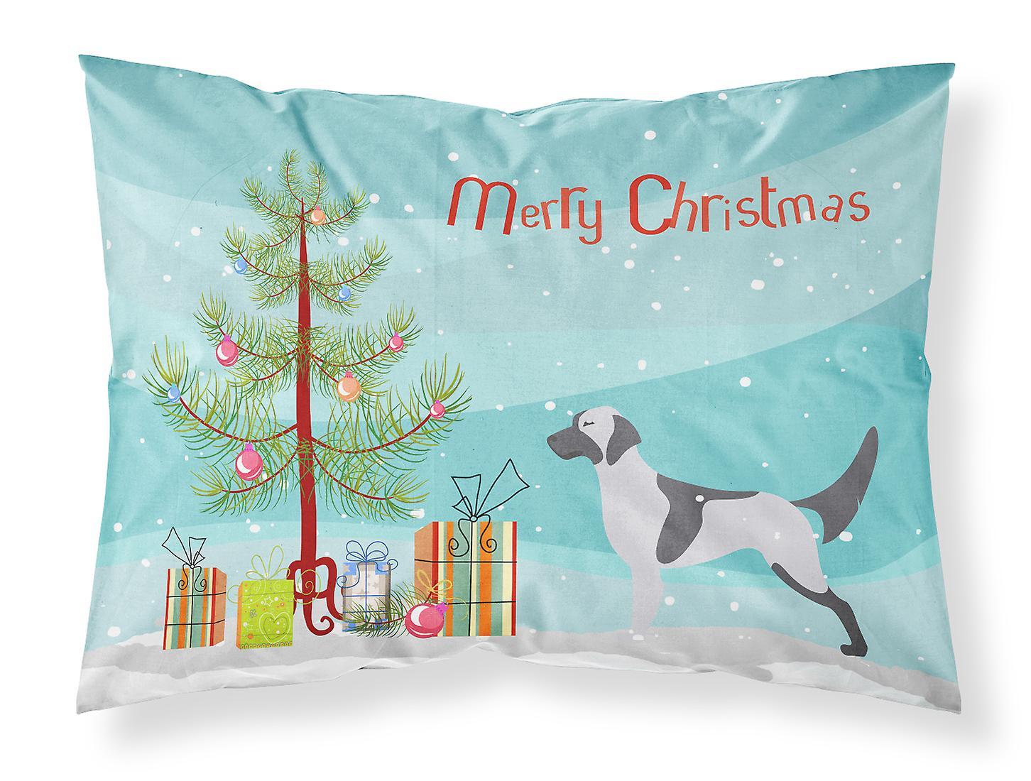 Setter Taie D'oreiller Standard De Anglais Tree Merry Christmas Tissu hdtsQrC