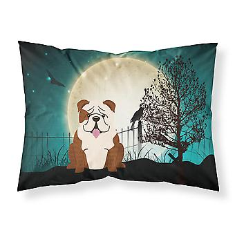 Halloween Scary  English Bulldog Brindle White Fabric Standard Pillowcase