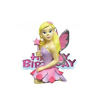 Creative Party Happy Birthday & Fairy Cake Topper