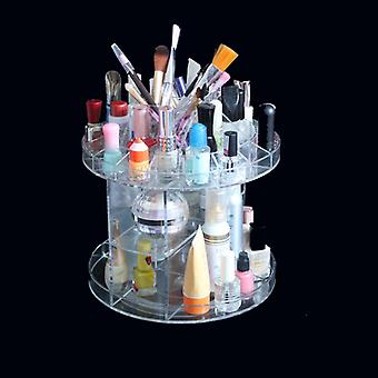 Deluxe Rotating Acrylic Cosmetic/Makeup Organizer 8.7