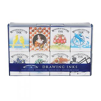 Winsor & Newton Drawing Inks Henry Collection 8 Ink Set