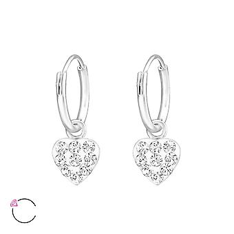 Heart crystal from Swarovski® - 925 Sterling Silver Earrings
