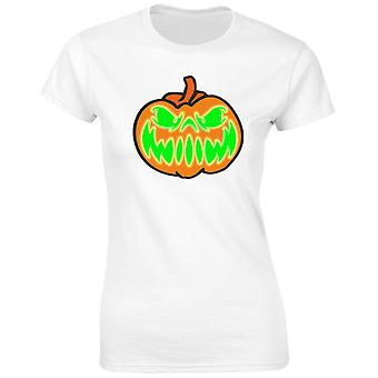 Grinning Jack Glow In The Dark Halloween Womens T-Shirt 8 Colours (8-20) by swagwear