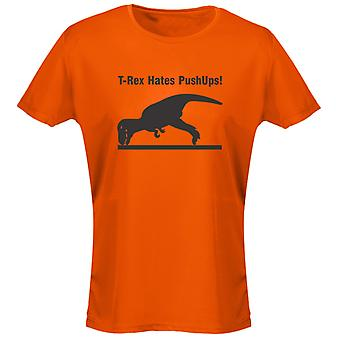 T-Rex Hates Pushups Funny Womens T-Shirt 8 Colours by swagwear