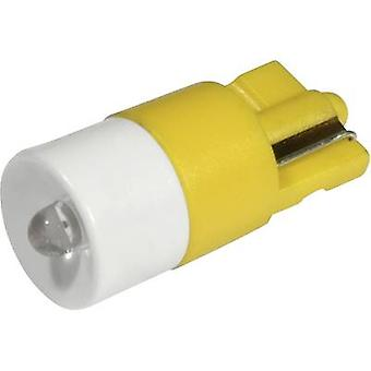 LED bulb W2.1x9.5d Yellow 24 Vdc, 24 V AC 280 mcd CML