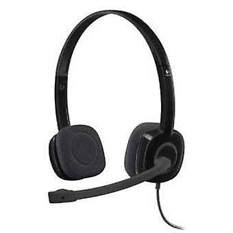 PC headset 3.5 mm jack Corded, Stereo Logitech H151
