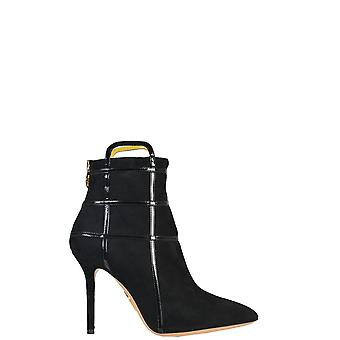 Charlotte Olympia women's F154394001 Black Suede Ankle Boots