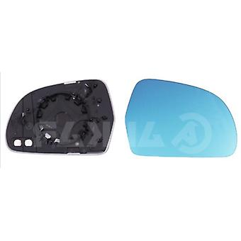 Right Blue Mirror Glass (heated) & Holder for AUDI A3 2008-2010
