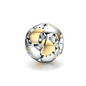 Sterling silver charm Ball with hearts SCC537