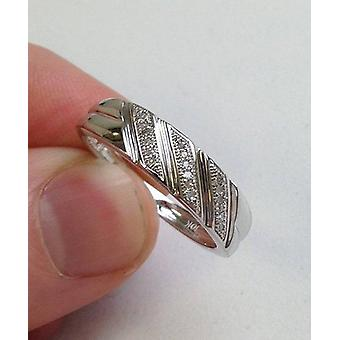 1/5ct Mens Diamond Ring 10K White Gold
