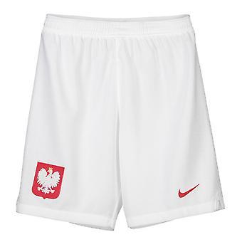 2018-2019 Polen Nike hjemme Shorts (hvid) - børn