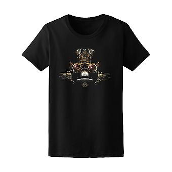 3D Futuristic Cyborg Robot Face Tee Women's -Image by Shutterstock