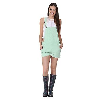 USKEES ANNA Oversized Dungaree Shorts Loose Fit Pale Green Overalls Bib shorts
