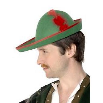 Robin Hood Hat - feltro verde - adulto