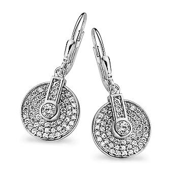 Orphelia Silber 925 Drop Ohrringe rund ebnen Zirkonium ZO-5079