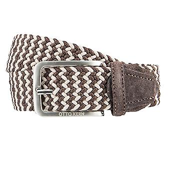 OTTO KERN belts men's belts woven belt stretch belt dark brown 3650