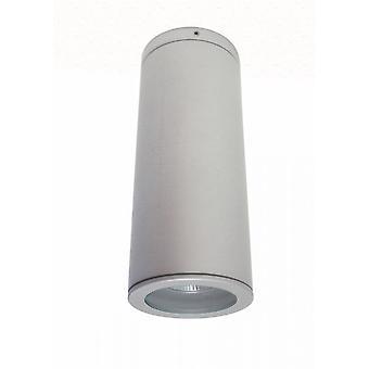 Telt ceil COB LED 1 x 9 W 3000 K plafondlamp IP54 titanium zilver, 10373