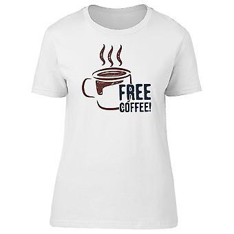 Free Coffee! Latte Lovers, Mocha Tee Women's -Image by Shutterstock