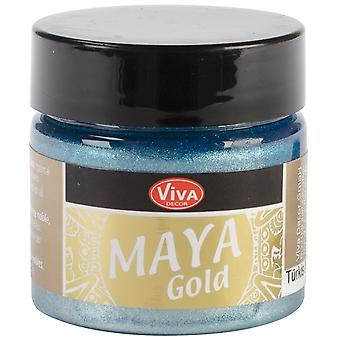 Viva Decor Maya Gold 50ml-Turquoise