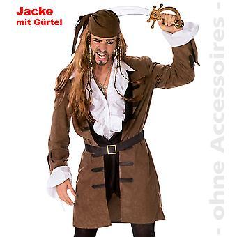 Traje de capitán traje pirata capa capitán pirata capa hombres
