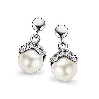 Orphelia sølv 925 ørering Shell perle hvid ZO-5029