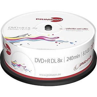 Primeon 2761252 lege DVD + R DL 8,5 GB 25 PC (s) spindel afdrukbare
