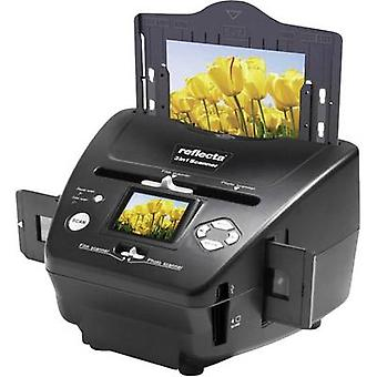 Reflecta 3 in 1 Scanner Slide Scanner, Image-Scanner, negativ Scanner 1800 dpi digitalisieren ohne PC, Display, Speicherkarten-Steckplatz