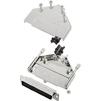 encitech DTPK37-M-HDP62-K D-SUB pin strip set 180 ° Number of pins: 62 Solder bucket 1 Set