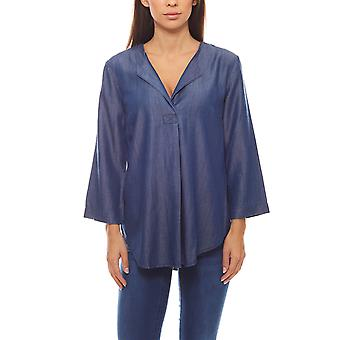 casual ladies denim blouse in blue jeans-look B.C.. best connections