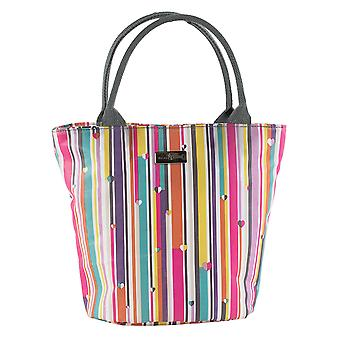 Beau & Elliot  Linear Stripe Insulated Lunch Tote Bag