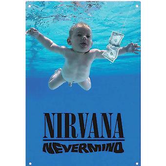 Nirvana Nevermind Metall unterzeichnen 400 Mm X 275 Mm 16