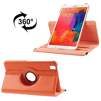 PU cover tray ash (flip cross) for Samsung Galaxy tab Pro 8.4 / T320 Orange