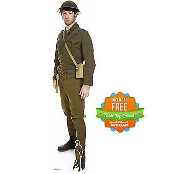 British World War 1 Soldier Cardboard Cutout / Standup / Standee
