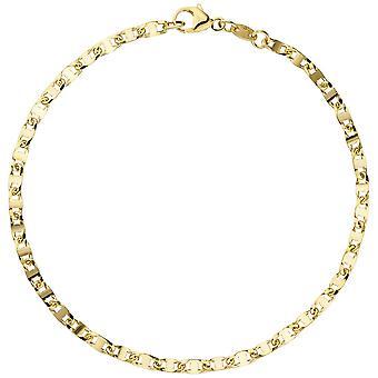 Золотой браслет браслет 585 золото желтое золото 19 см браслет золото омаров