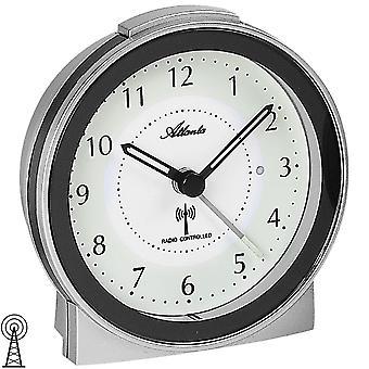 Atlanta 1855/19 Väckarklocka radio väckarklocka silver antracit med ljus snooze tyst