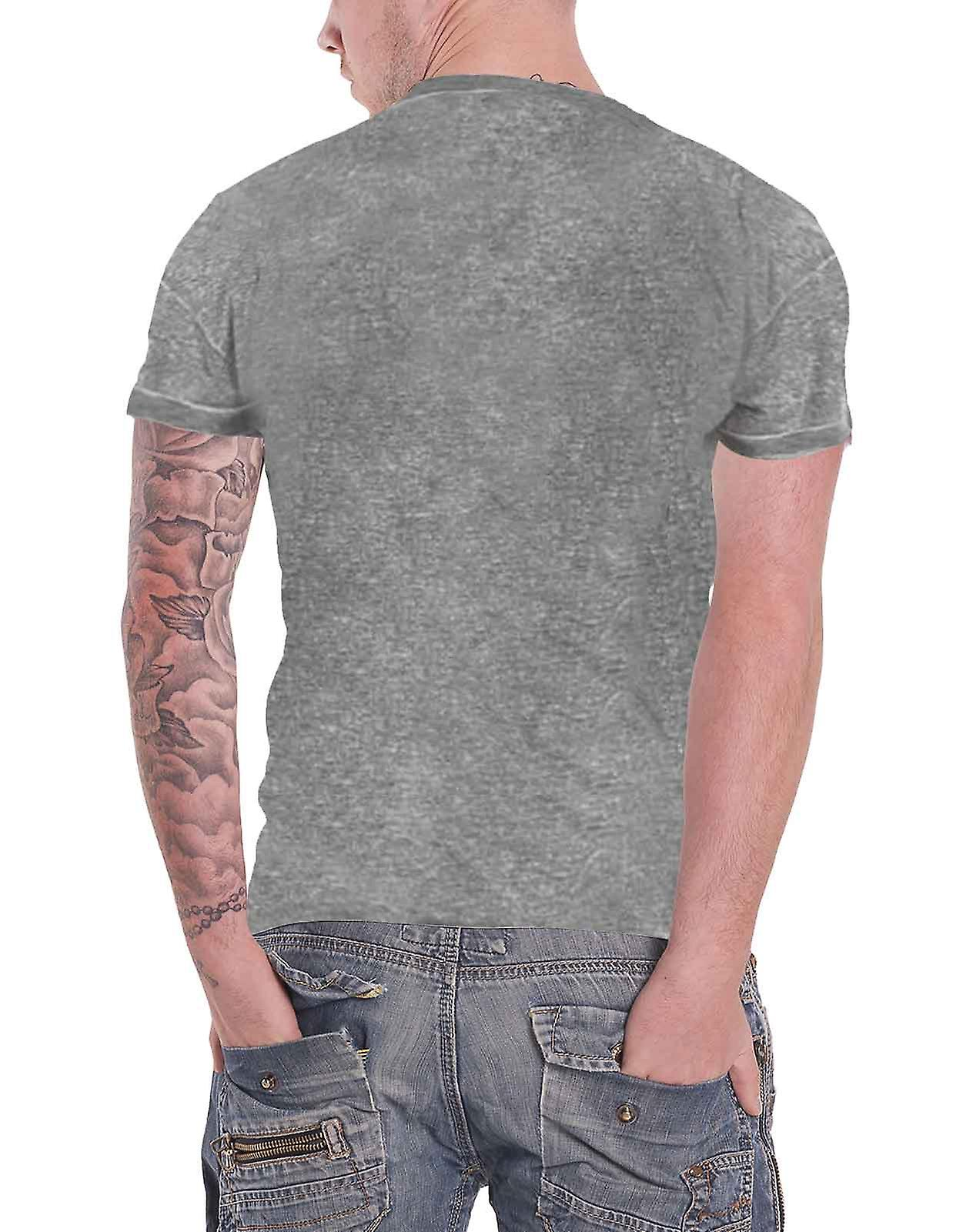 Black Sabbath T Shirt band Logo & Demon new Official Unisex slim fit Burnout